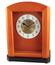 Rhythm CRH104NR06 Wood Table Clock
