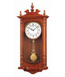 Rhythm CMJ302ER06 Wooden Wall Clocks Chime