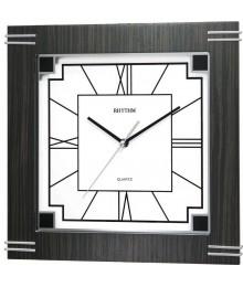 Rhythm CMG974NR02 Wooden Wall Clock