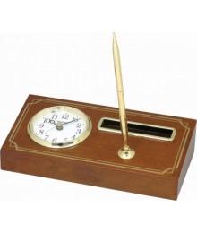 Rhythm CRG115NR06 Wood Table Clock